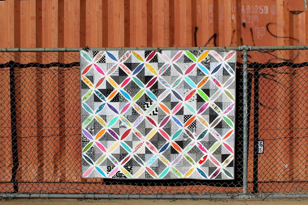 Orange Peel Quilt - made as part of the QCA Bee in 2014