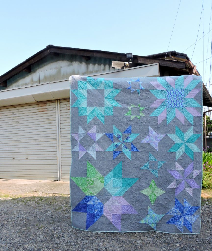 Aurora Quilt by alyce Blyth - Pattern Available in Issues 1 - 6 of Make Modern Magazine