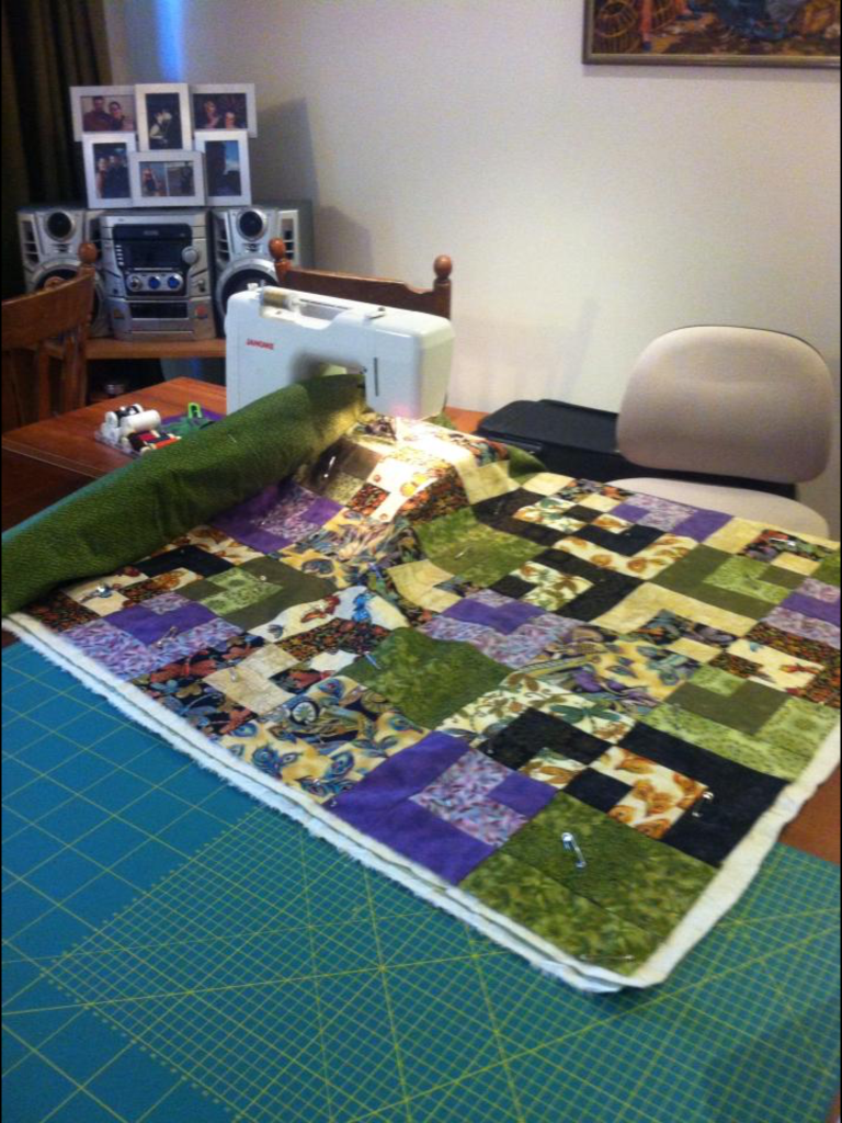 Bento Box Quilt by Monica Raven. Image Copyright Monica RAven and used with permission.