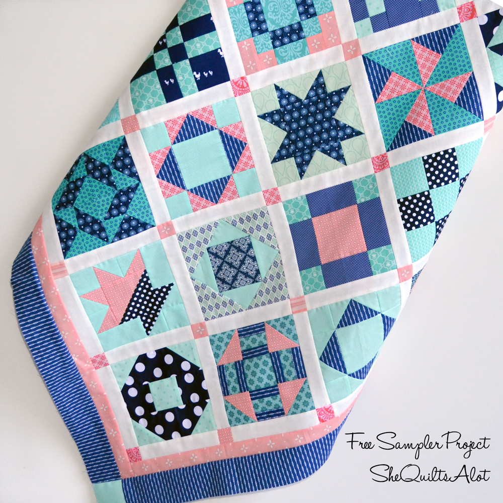 Six Inch Sampler Quilt - She Quilts a Lot