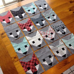 Fancy Foxes by Corinna Burrows. Pattern by Elizabeth Hartman.