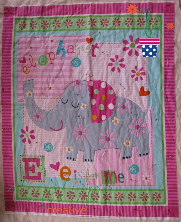 E is for Me | hand quilted by Linden Vine of Vine Lines Creative