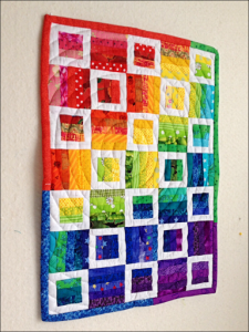 Radio Way Mini Quilt - designed by JayBird Quilts; pieced and quilted by Di Jobbins