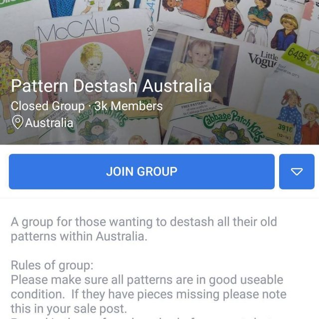 PSA Keep clear of this group on Facebook PATTERN DESTASHhellip